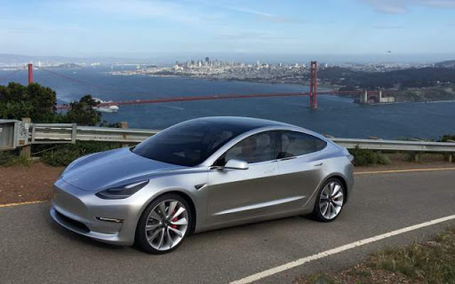 Tesla model S color gris